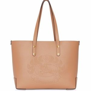 Burberry Women's Natural Small Embossed Crest bag